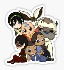 Chibi Avatar Gaang  Sticker