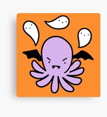 Spooky Octopus Canvas Print