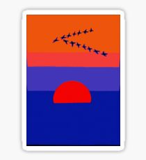 Fly Into The Sunset Sticker