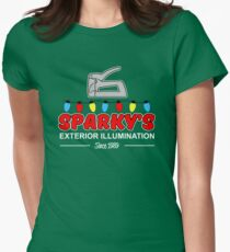 Sparky's Exterior Illumination Christmas lights Women's Fitted T-Shirt