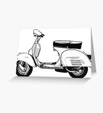 White Vespa Greeting Card
