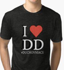 I love DD - Duchovniacs  Tri-blend T-Shirt