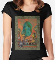 Mughal Skyline - The Qalam Series Women's Fitted Scoop T-Shirt