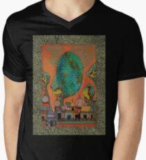 Mughal Skyline - The Qalam Series Men's V-Neck T-Shirt