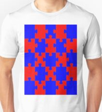 Red and Blue Puzzle Unisex T-Shirt