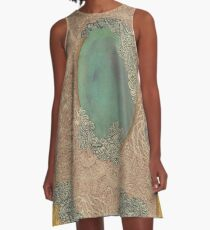 Yellow Pattern - The Qalam Series A-Line Dress