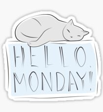 Have a nice monday, Cat Sticker