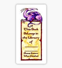 Purple Dragon Bookplate Sticker
