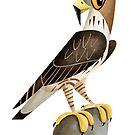 Bonelli's Eagle caricature by rohanchak
