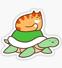 Tiny Tabby and Turtle Sticker