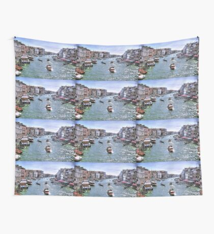 Rush Hour In Venice! Wall Tapestry