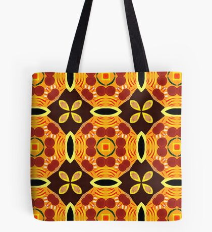 Sixties Abstract Pattern Tote Bag