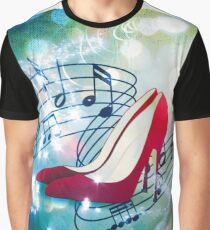 Let's Dance. Put on your Red Shoes and dance the Blues Graphic T-Shirt
