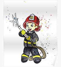 Fireman Boy Poster