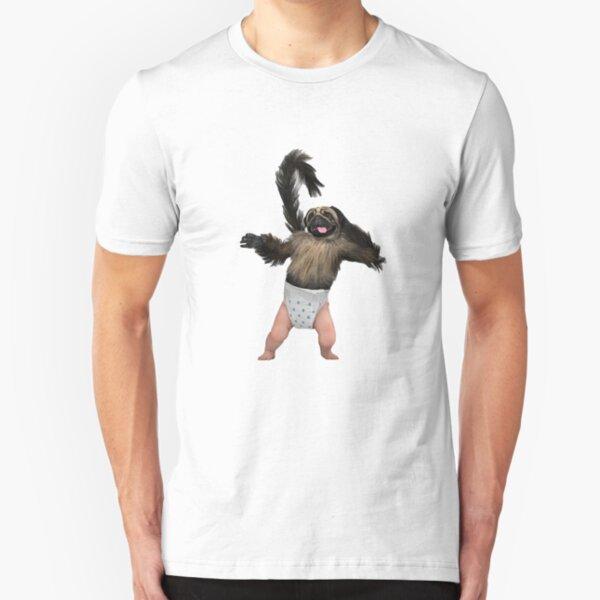 Puppy Monkey Baby Slim Fit T-Shirt