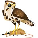 Common Buzzard caricature by rohanchak