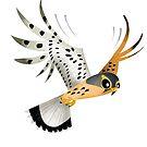 Common Kestrel Hunting caricature by rohanchak