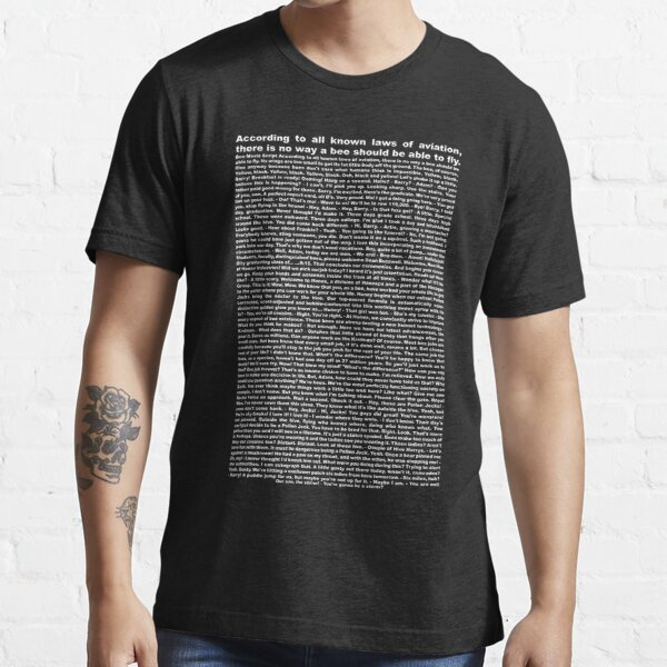 bee movie script ( you can read it) Essential T-Shirt