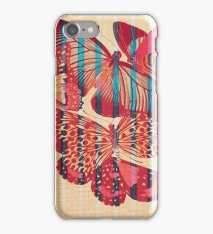 Butterflies in Strips iPhone Case/Skin