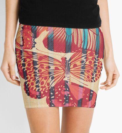 Butterflies in Strips Mini Skirt