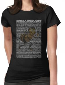 bee movie script ( you can read it) Womens Fitted T-Shirt