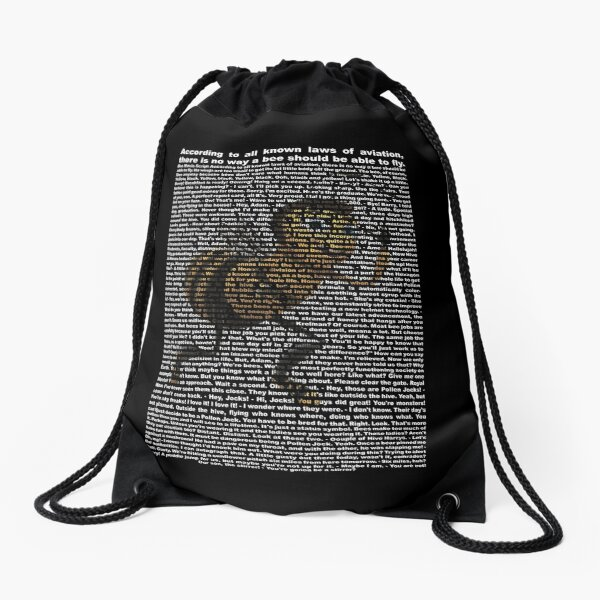 bee movie script ( you can read it) Drawstring Bag