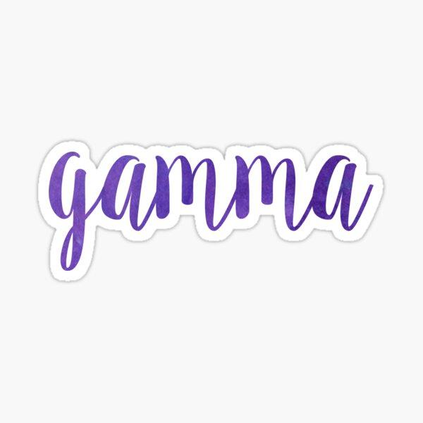 purple gamma worddd Sticker