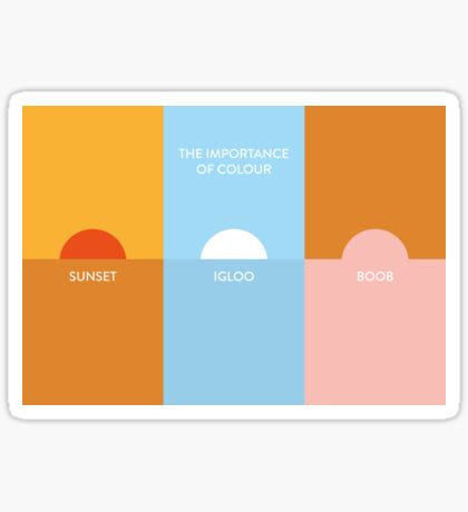 The importance of colour - Sunset Sticker