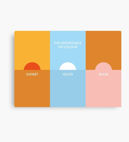 The importance of colour - Sunset Canvas Print