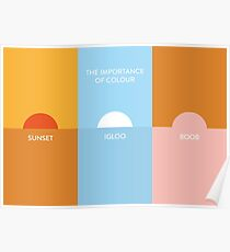 The importance of colour - Sunset Poster