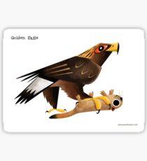 Golden Eagle caricature Sticker