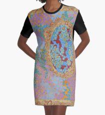 Jewel Tones - The Qalam Series Graphic T-Shirt Dress