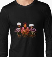 David S. Pumpkins - Any Questions? V Long Sleeve T-Shirt