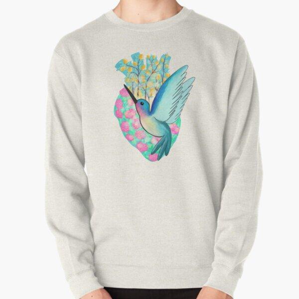Hummingbird Heart Pullover Sweatshirt