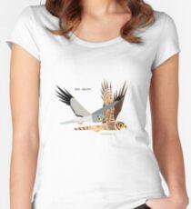 Hen Harrier caricature Women's Fitted Scoop T-Shirt