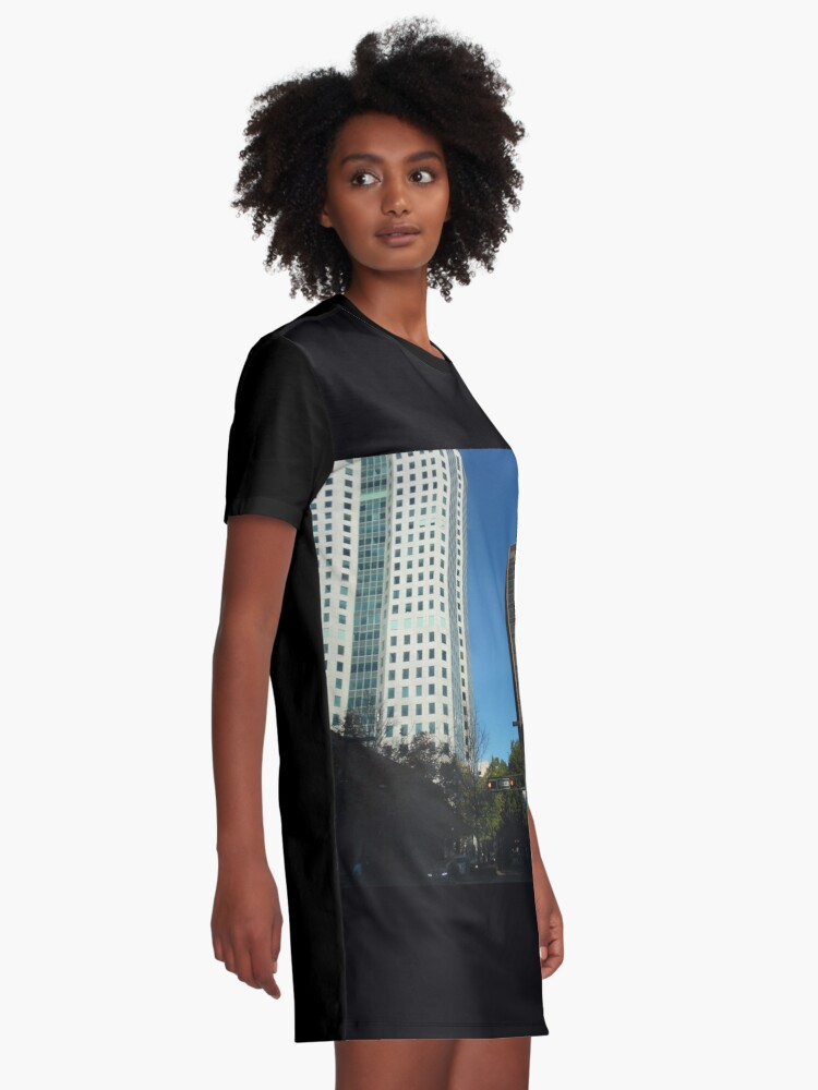 Alternate view of Engulfed in the Scene Graphic T-Shirt Dress