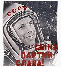 Russland Gagarin Raum Astronaut Poster