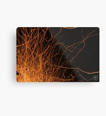 Sparks Fly Metal Print