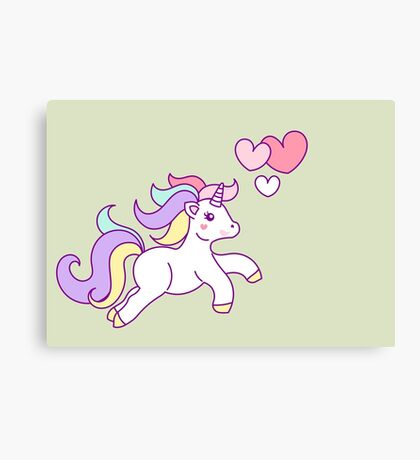 Unicorn Love Canvas Print
