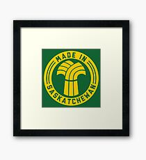 Made in Saskatchewan Logo (Gold & Green) Framed Print