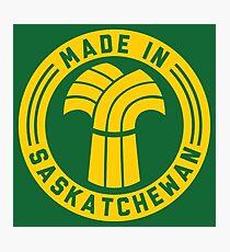 Made in Saskatchewan Logo (Gold & Green) Photographic Print