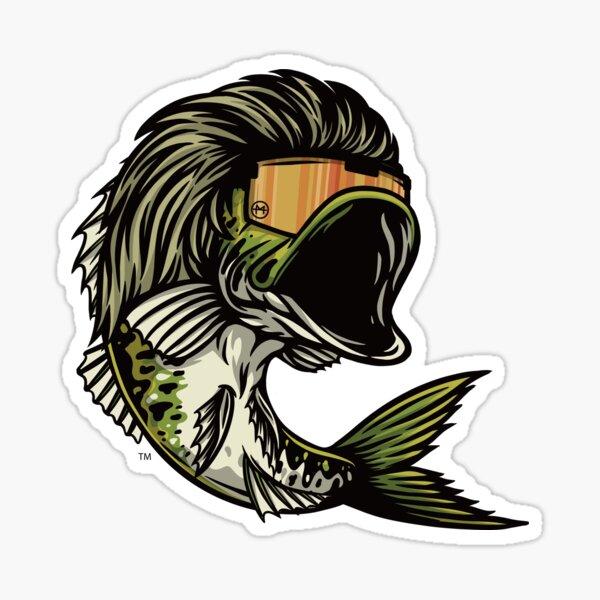 Bass Mullet Sticker