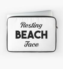 Resting Beach Face Laptop Sleeve