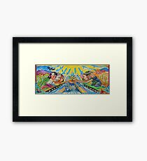 California Figures in Landscape Framed Print