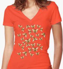 Honey Makers Women's Fitted V-Neck T-Shirt