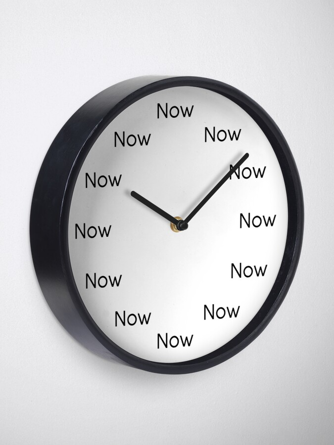 Alternate view of Now is Zen™ Clock Clock