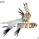 Pallid Harrier caricature by rohanchak