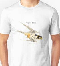 Peregrine Falcon diving caricature Unisex T-Shirt