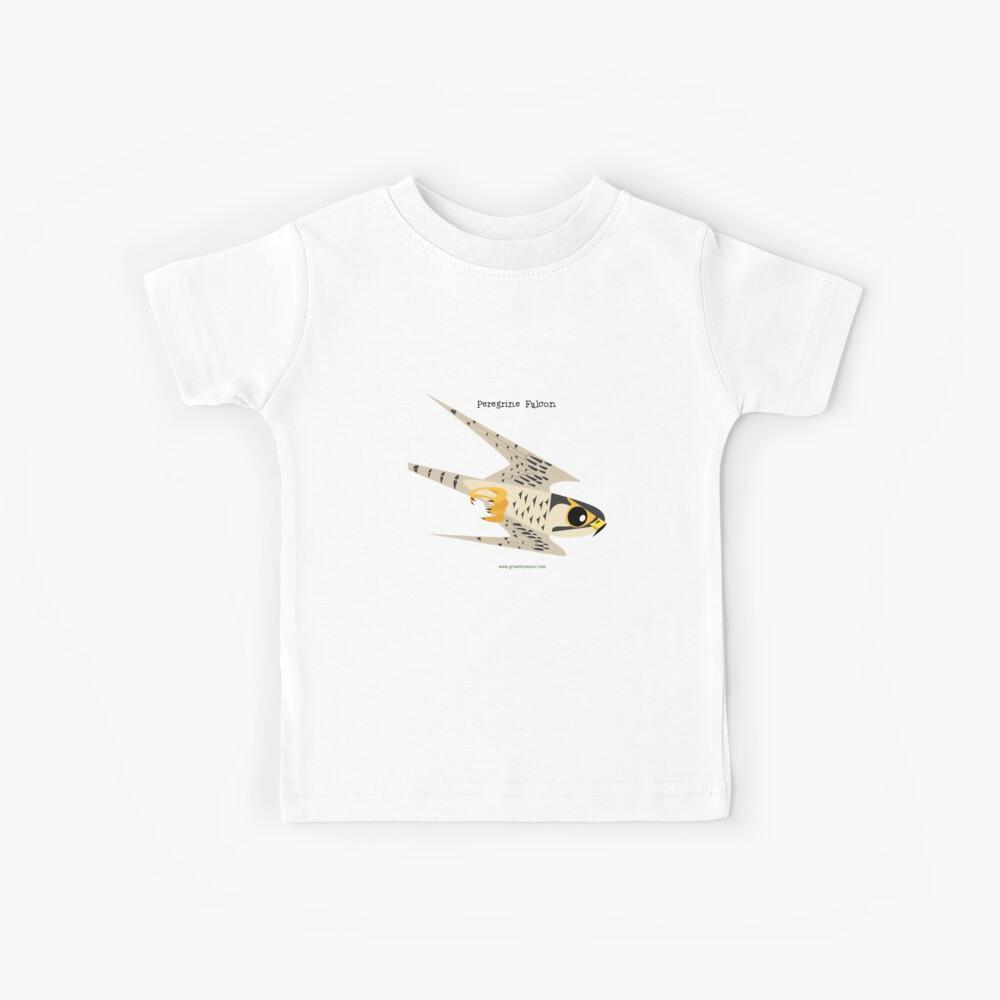 Caricatura de buceo Peregrine Falcon Camiseta para niños