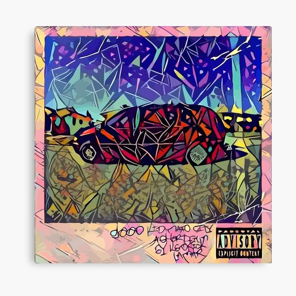 Abstract Good Kid Maad City Canvas Print